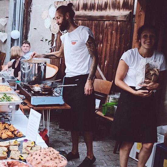 Live-Cooking bei Hochzeit